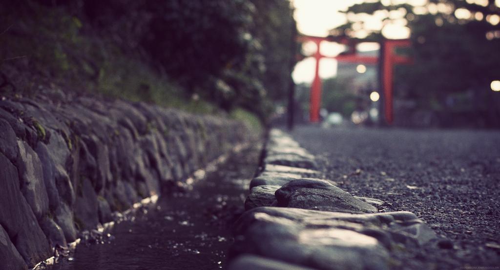 A gutter